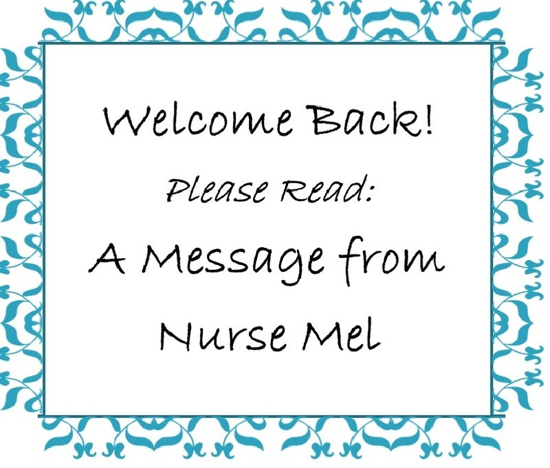 Welcome message from Nurse Mel