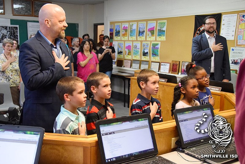 Students Lead Pledge at February Board Meeting Thumbnail Image