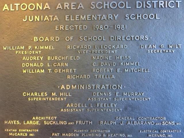 Juniata Elementary School Dedication
