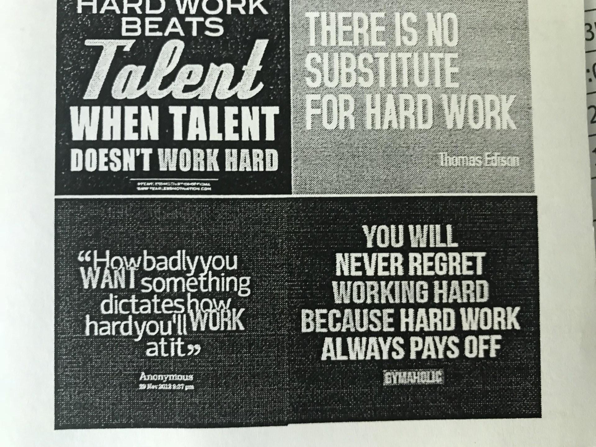 Hard Work Hero Card