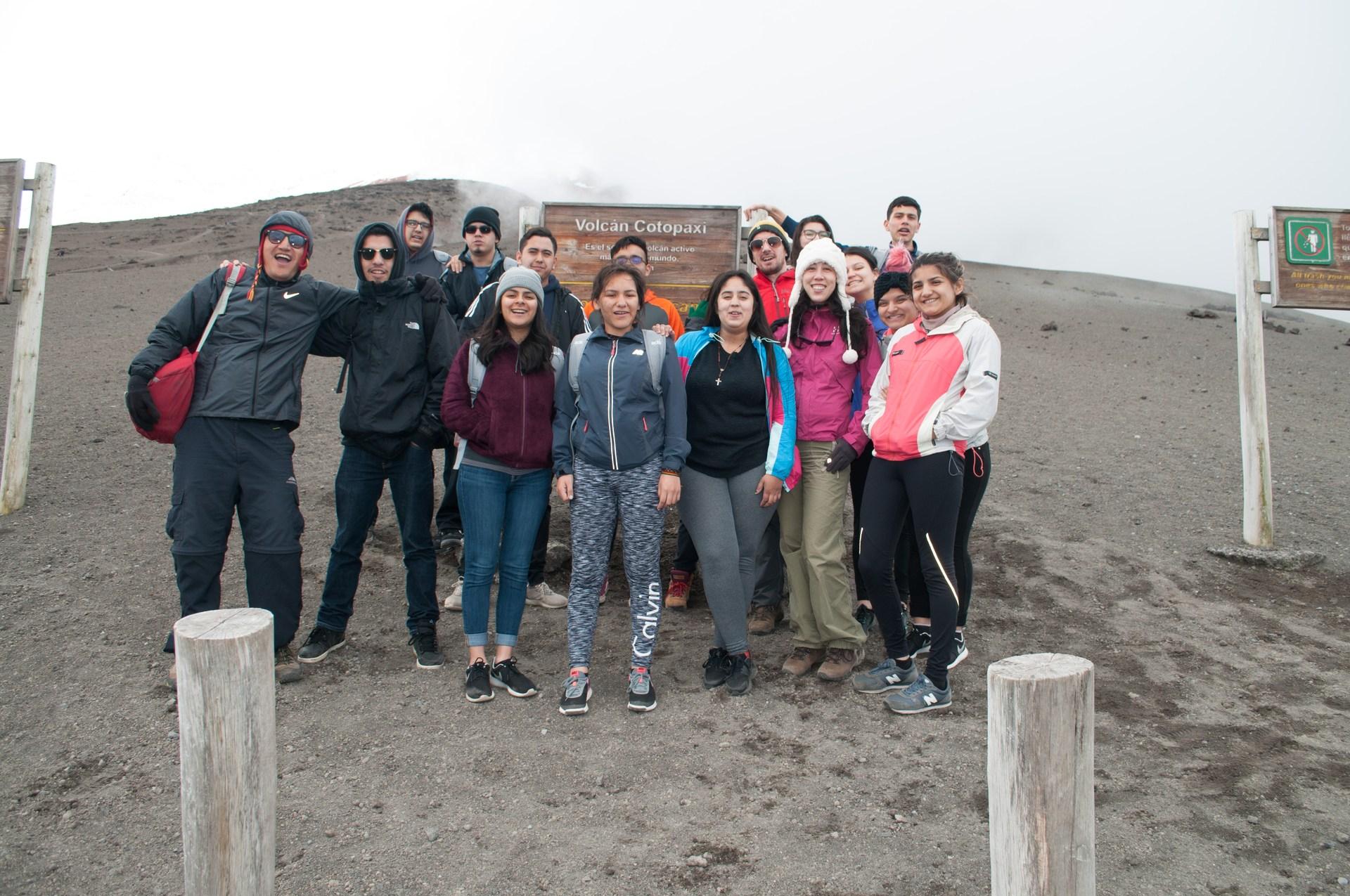 Cotopaxi volcano peak.