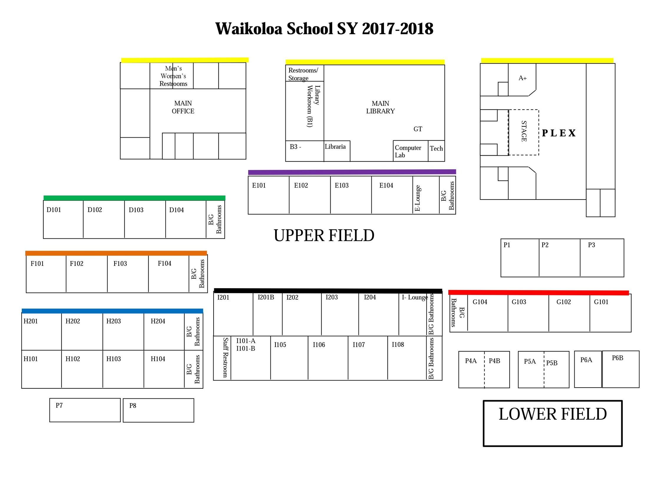 School Campus Map.Campus Map Miscellaneous Waikoloa Elementary Middle School