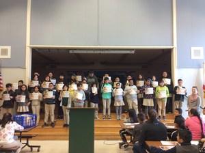 Students receiving Math awards