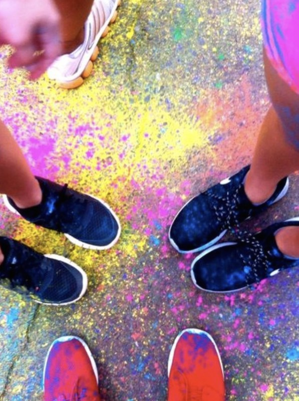 color run shoes