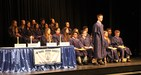 National Honor Society inductees during ceremony on February 15, 2018