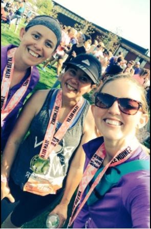 Des Moines women's half marathon with Mrs. Beydler and Mrs. Murray