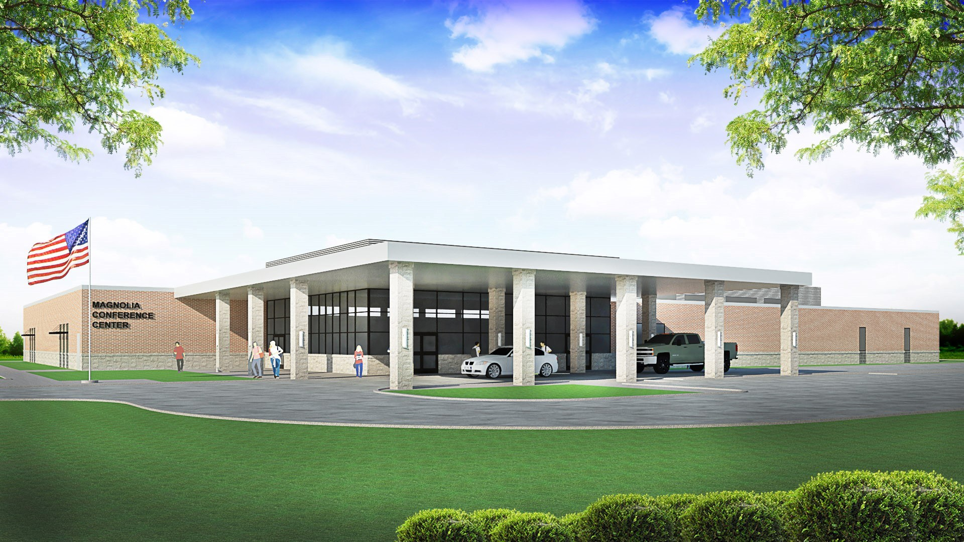 Front rendering of the District Conference Center