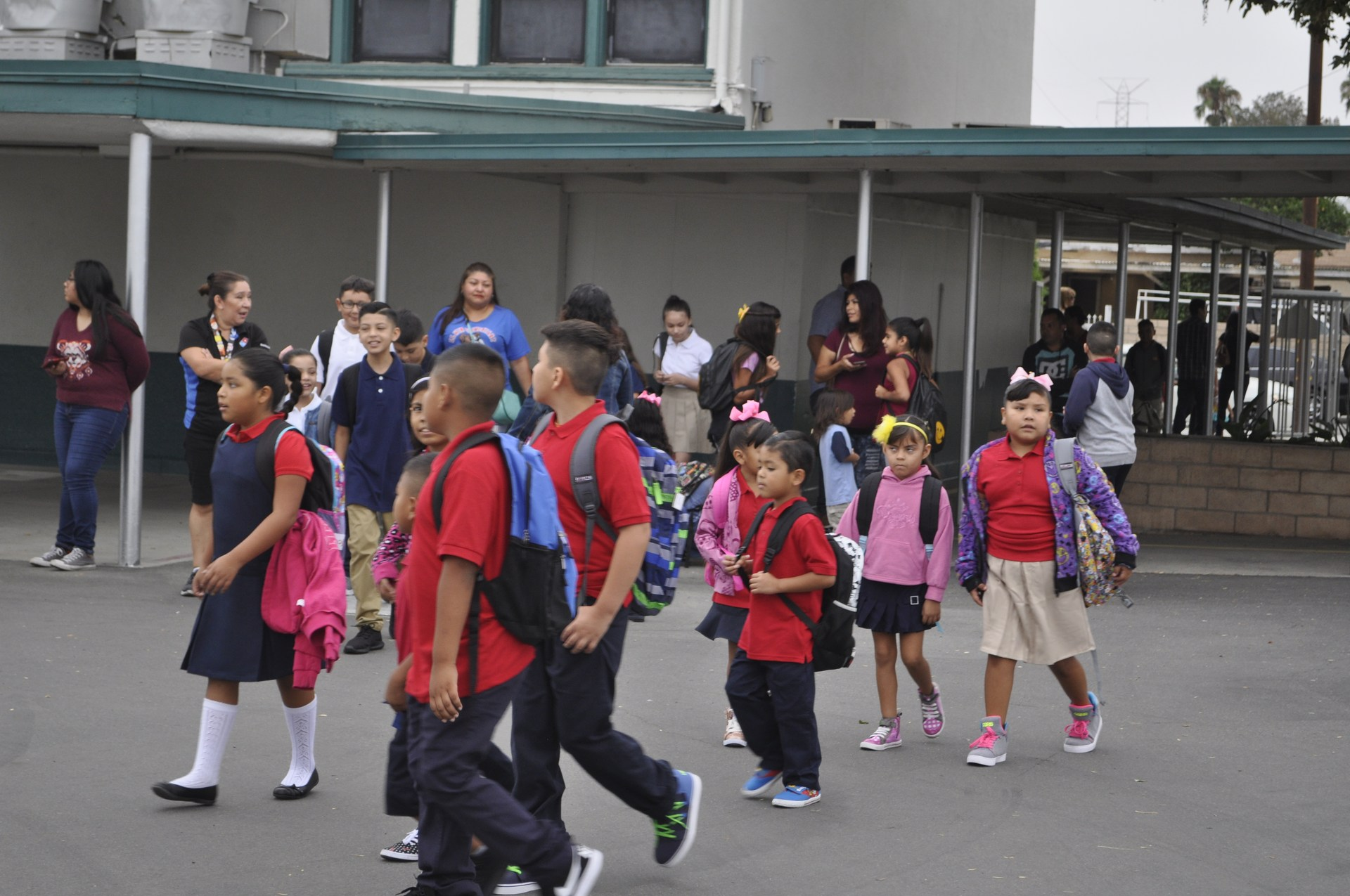 """lwin Elementary, with 392 students in transitional kindergarten through sixth grade, launched the new year Monday with a """"walk and talk"""" before school to energize students and give them a chance to reconnect with friends."""