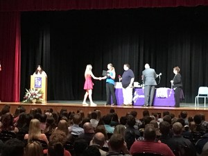catrina halstead being inducted into FLTCC Honor Society