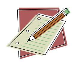 Paper and Pencil clip art