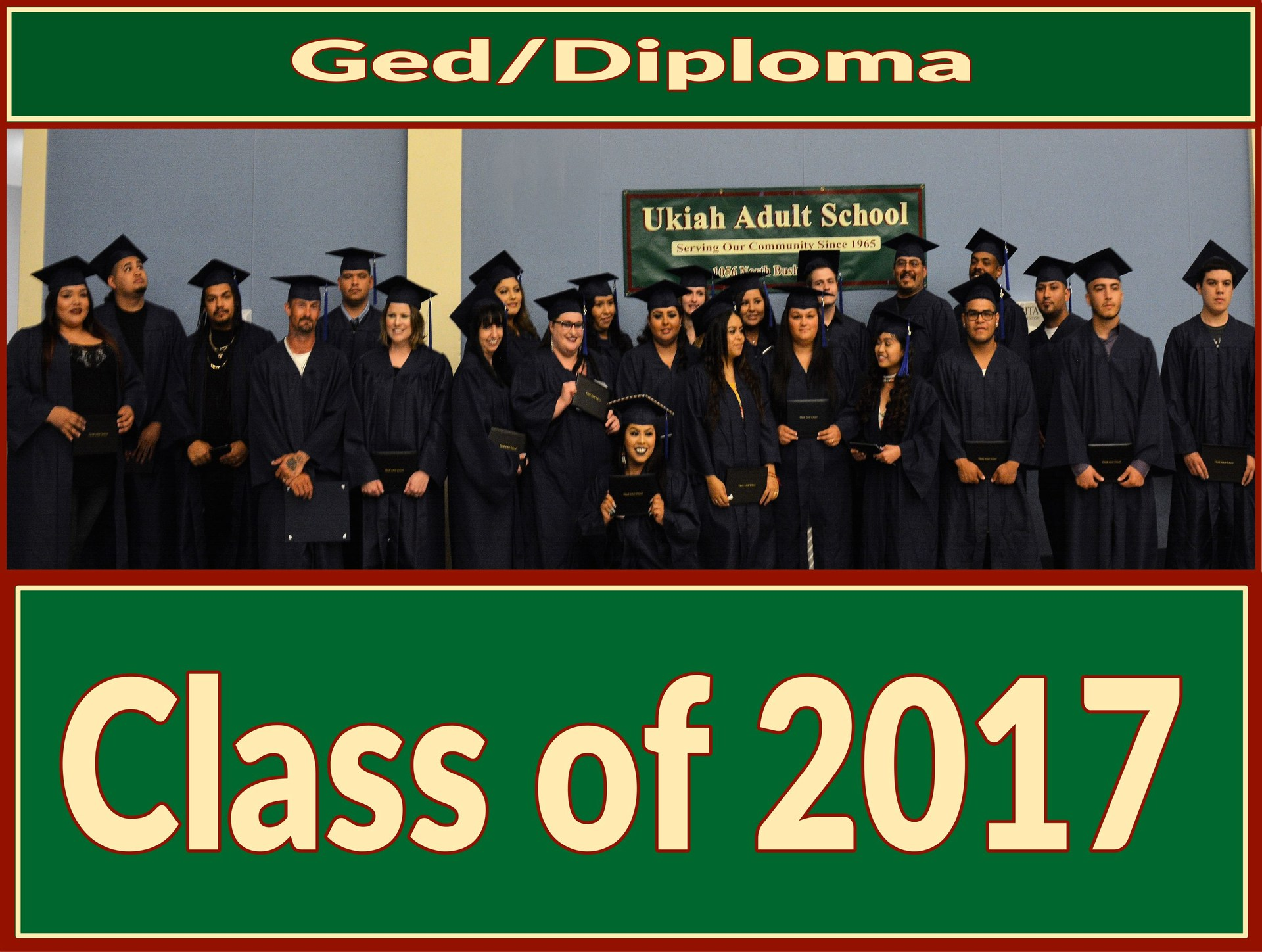 Image of the graduating class of 2017.