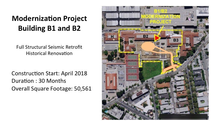 Map of BHHS B1 and B2 construction
