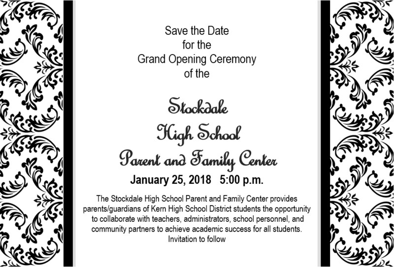 Grand Opening of the Stockdale High School Parent & Family Center Thumbnail Image