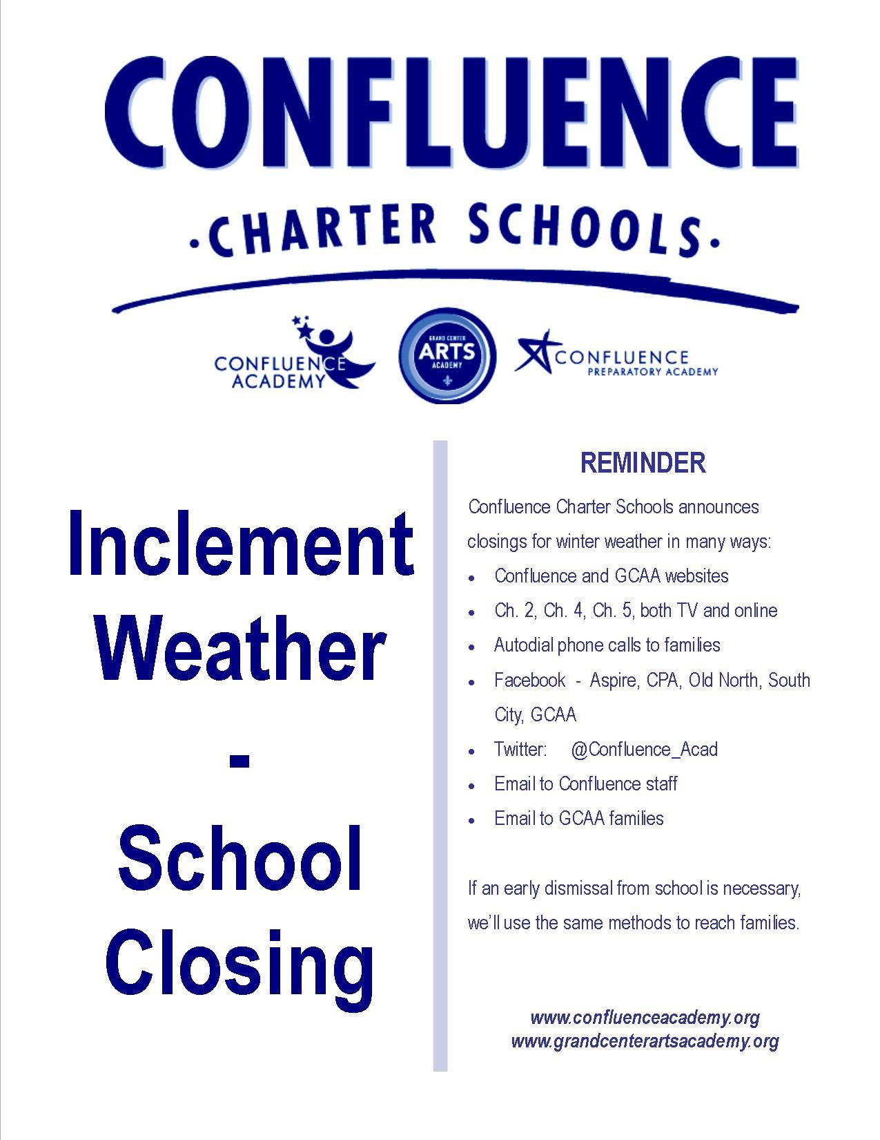 School closing notice flier