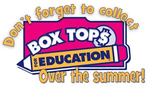 Box Tops for Education logo with the words don't forget to collect over the summer