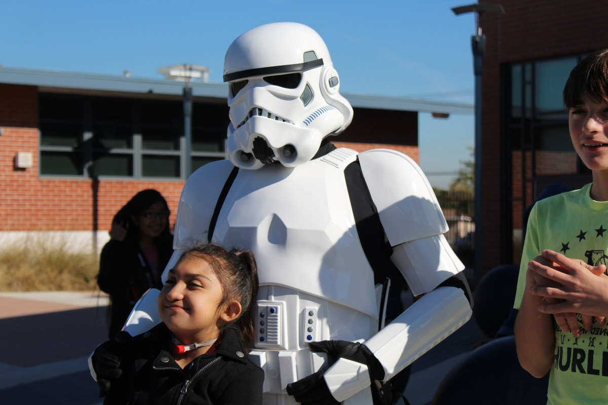 Student with Storm Trooper