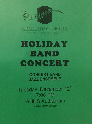 Holiday band concert flyer