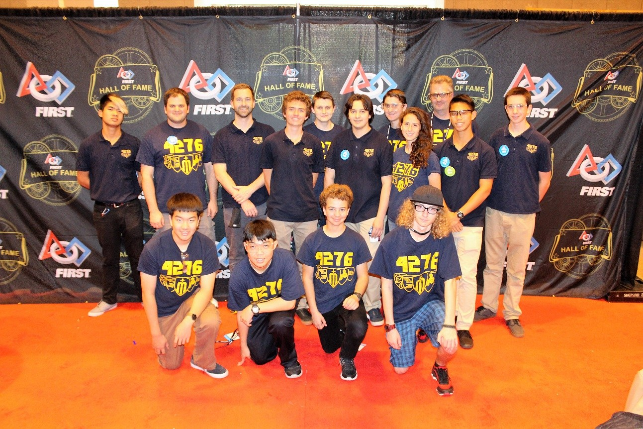 Members of the Robotics Team posing for photo