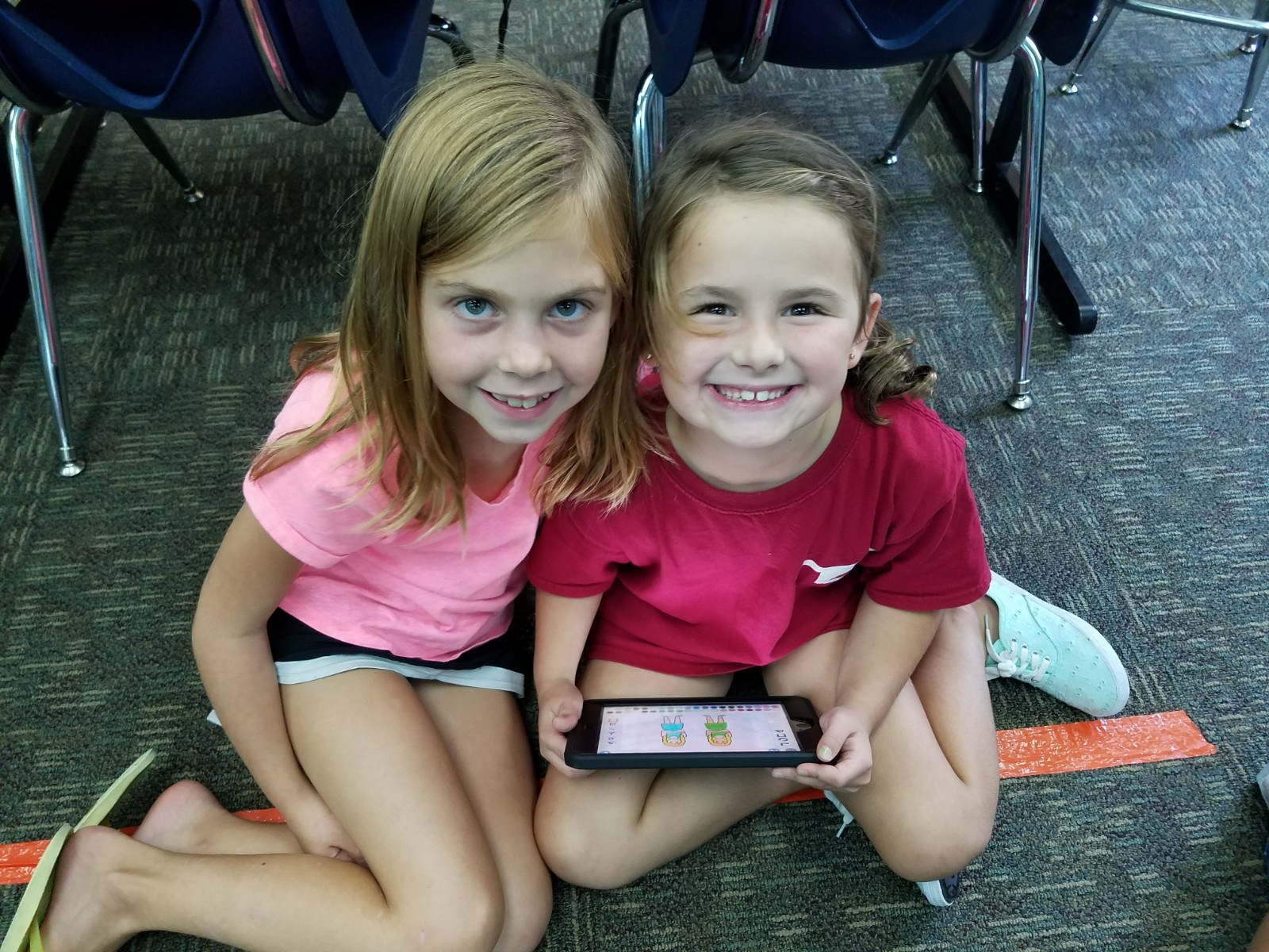 Students and iPads