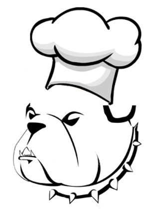 LPHS Culinary Arts bulldog chef logo