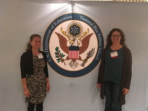 Albany Middle School at the National Blue Ribbon School recognition ceremony in Washington, DC.