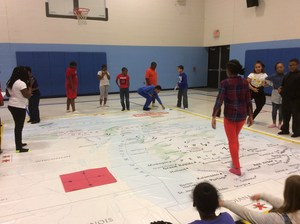 Students Using Map