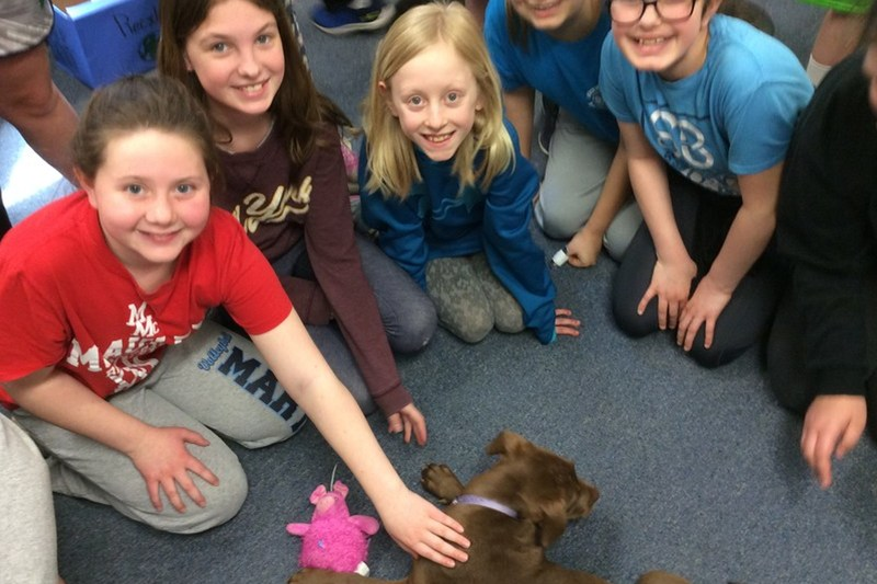 Fifth-Grade Class has a Special Visitor Thumbnail Image