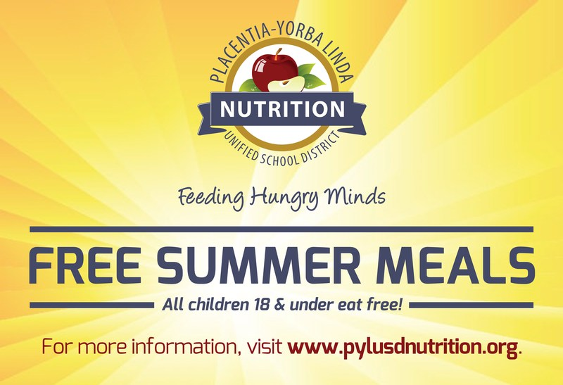 PYLUSD to offer free summer meals for children 18 & under Thumbnail Image