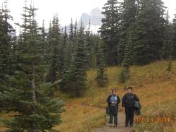 Hiking on Mt Rainier
