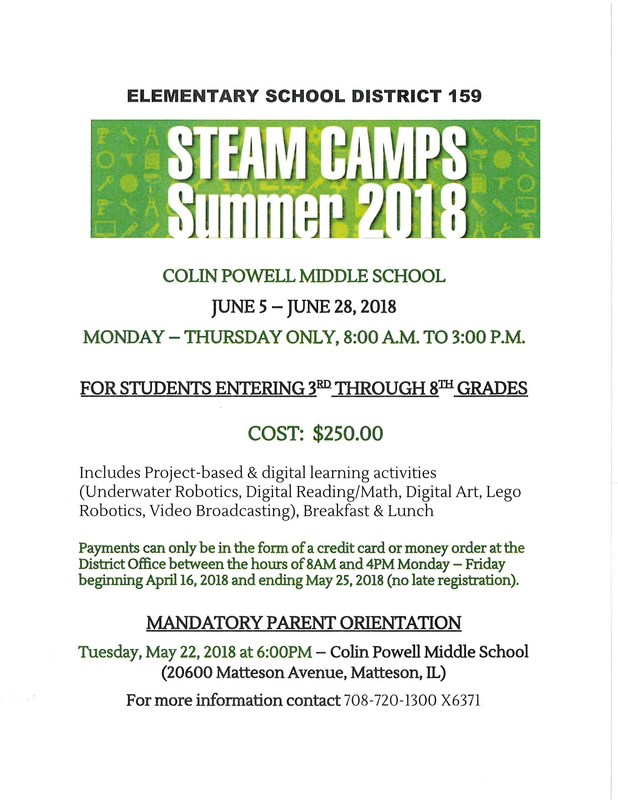 STEAM Camps Summer 2018 Featured Photo