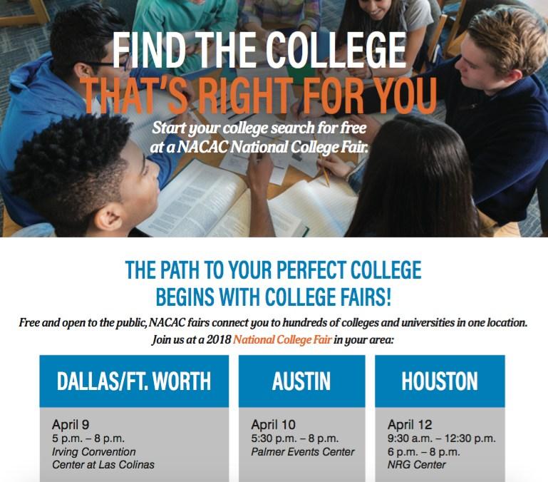 NACAP National College Fair April 10 Thumbnail Image