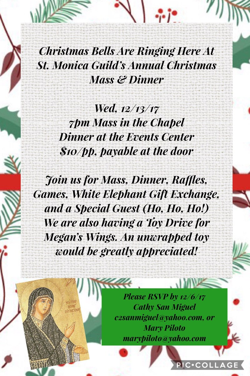 St. Monica's Guild Annual Mass & Dinner Featured Photo