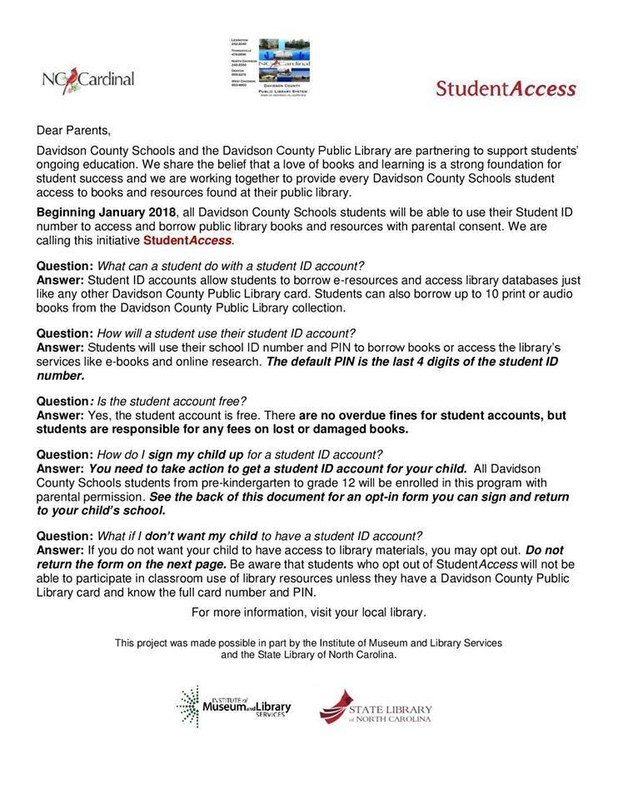 Student Access Letter