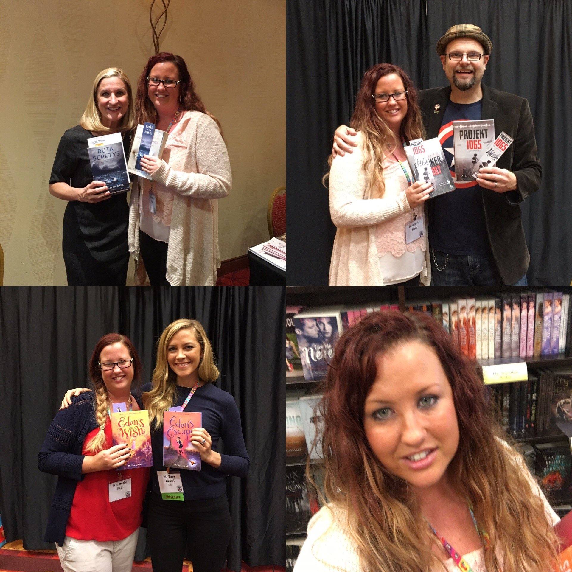 Ms. Rein with authors at the TRA conference in 2016