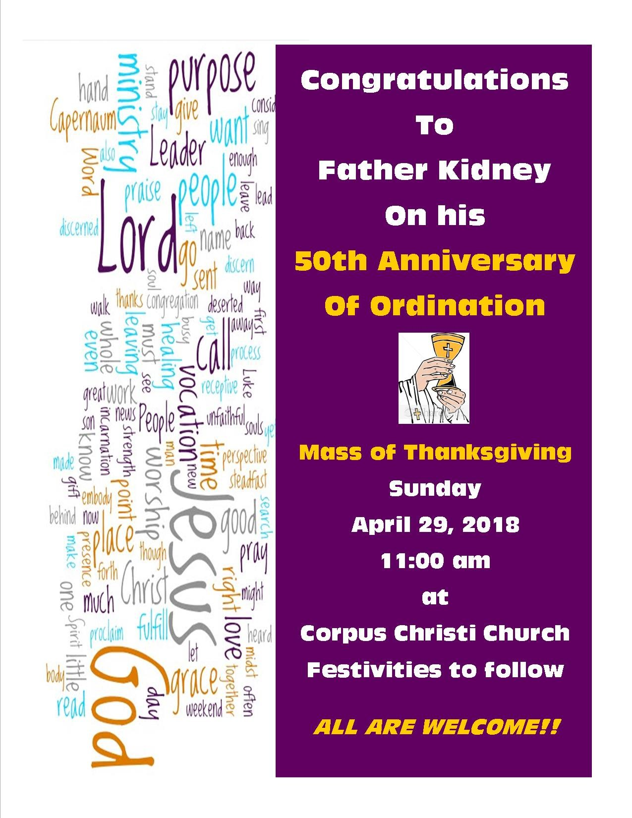 Congratulations Fr. Kidney! Image