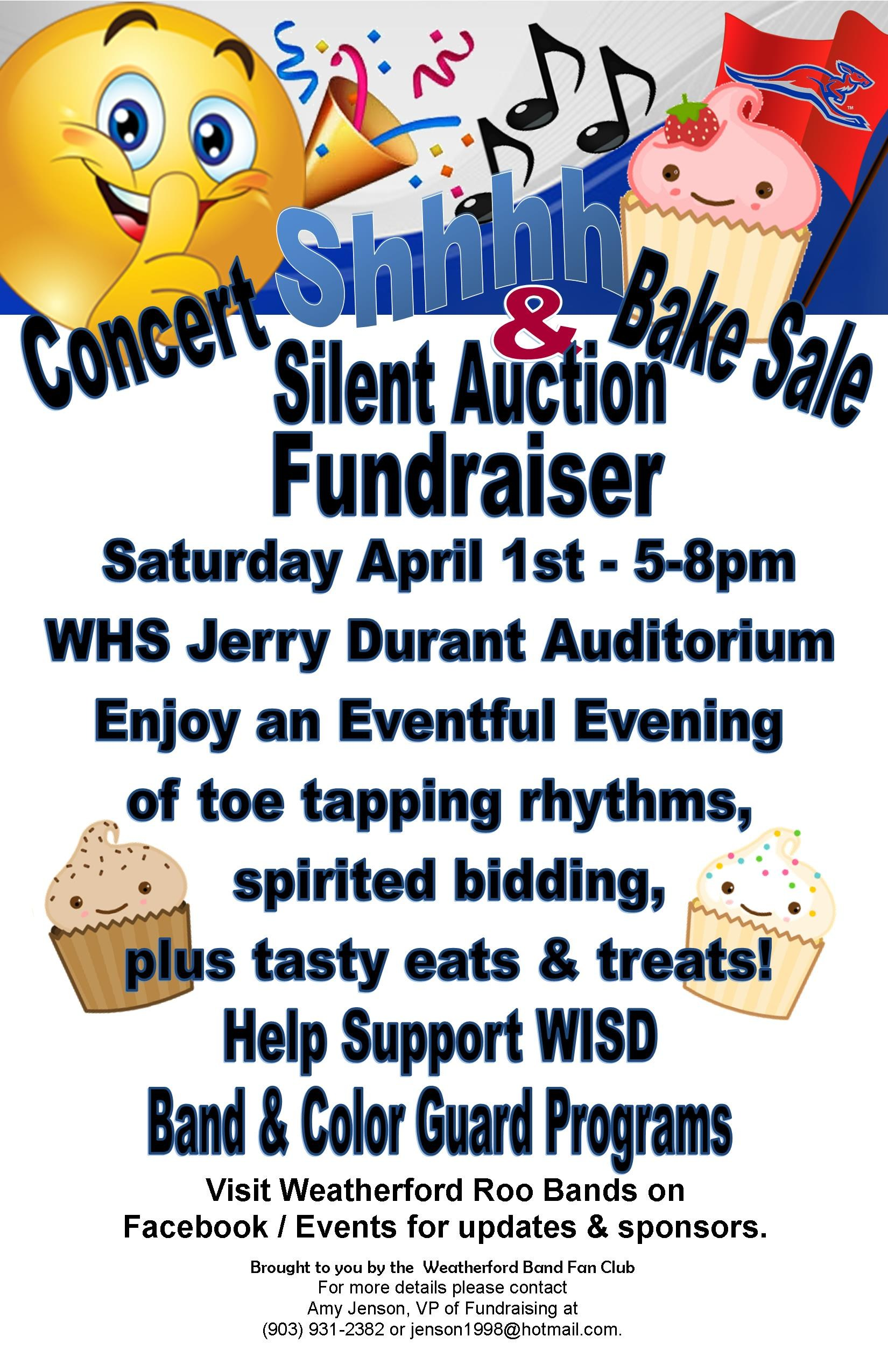 weatherford independent school district whs band concert bake silent auction