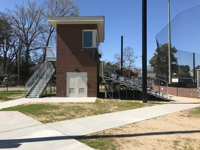 Brookland-Cayce High's New Baseball Press Box...Side View
