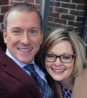 Felicia James and Ron Clark