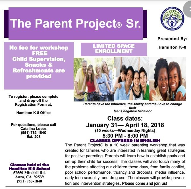 Parent Project Workshop Flyer