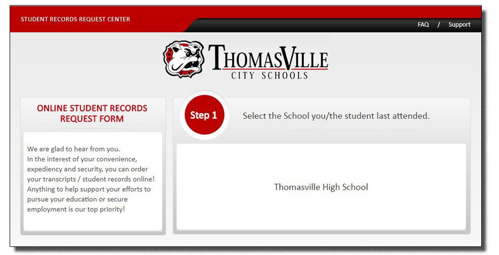Transcript Requests  Student Services  Thomasville High School