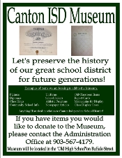 Canton ISD Museum Pamplet