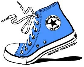 Converse shoe with OVS logo