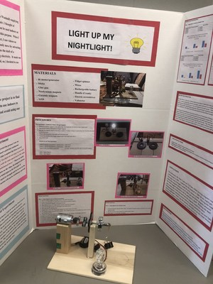 Student Science Fair project: Light Up My Light