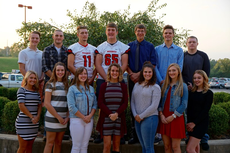 Homecoming court members