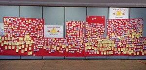 Positive Post-It Wall