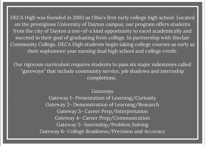 Deca High Dayton Early College Academy