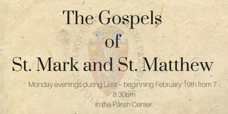 Gospels of St. Mark and St. Matthew Featured Photo