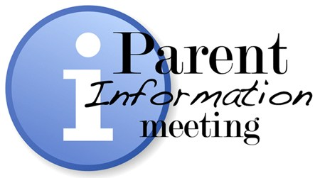 clipart with Parent Information Meeting text