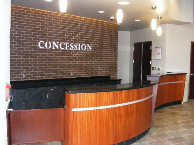 concessions in the fine arts center