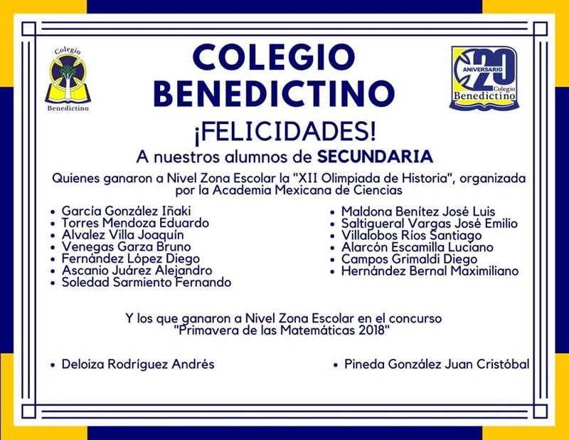 Felicidades a nuestros alumnos ganadores de Secundaria Featured Photo